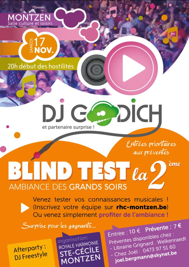 affiche blind test 2018
